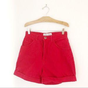 """Vintage 90's lightweight denim high waist red 26"""""""